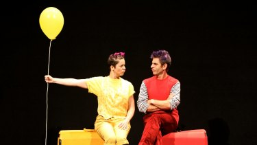 Wife and husband team Christina Gelsone and Seth Bloom play sister and brother in <i>Air Play</i>.