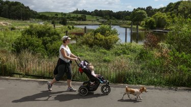 """""""It's like cutting into our backyard,"""" says local resident Bethany Woollatt. One of the areas to be acquired is adjacent to the popular wetlands area."""