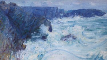 John Russell's Rough Sea, Morestil, Belle-Ile, c1900.