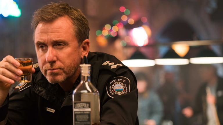 Tim Roth plays small-town sheriff Jim Worth in Tin Star.