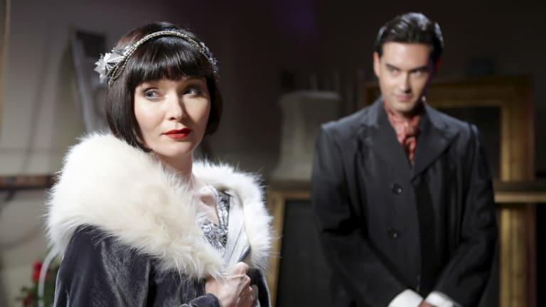 Essie Davis as Miss Phryne Fisher in the ABC series Miss Fisher's Murder Mysteries.