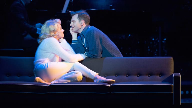 David Campbell and Hannah Fredericksen as Bobby Darin and troubled wife Sandra Dee in the musical <i>Dream Lover</i>.