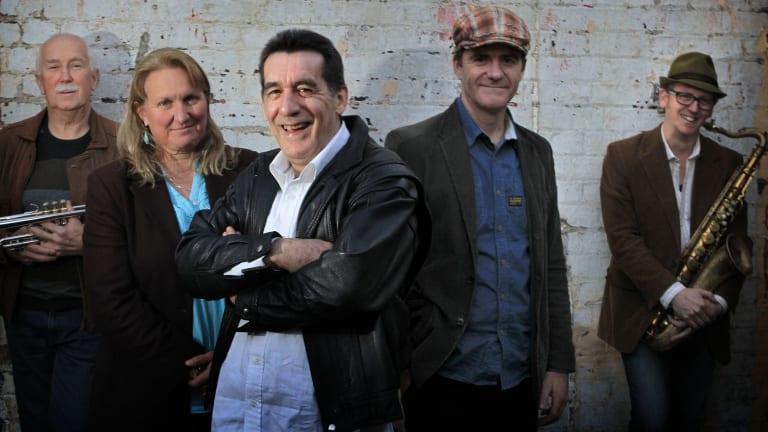 Keep on swingin' ... Gary Walford (front) with, from left, Bob Henderson, Natalie Morrison, Graham Hilgendorf and Ben Jones.