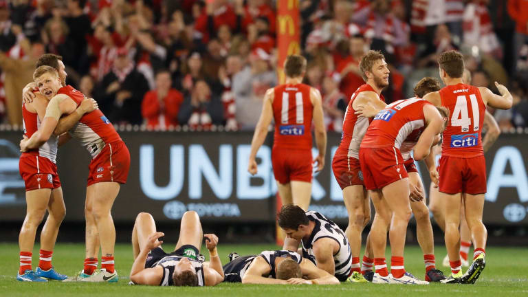 Up and about: Swans early heat proved too hard to handle.