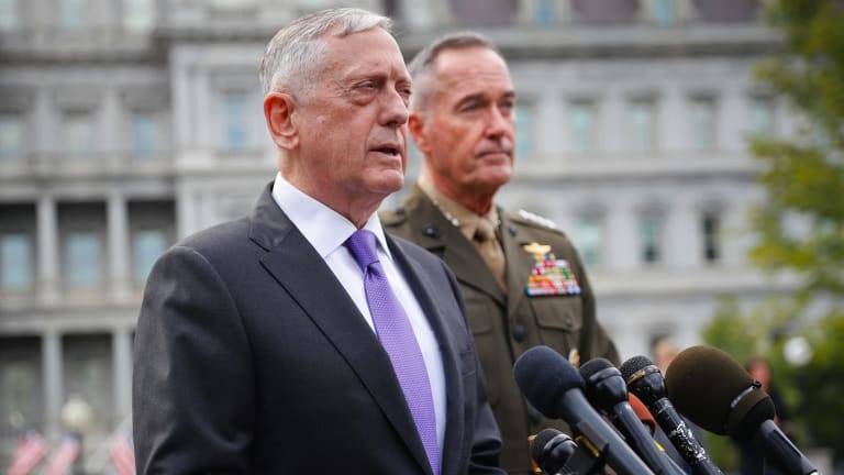 US Defence Secretary Jim Mattis and Joint Chiefs Chairman General Joseph Dunford