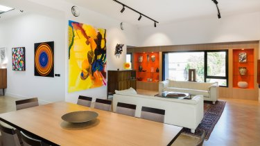 Inside Melbourne architect Charles Justin and wife Leah's Justin Art Housemuseum in Prahran.