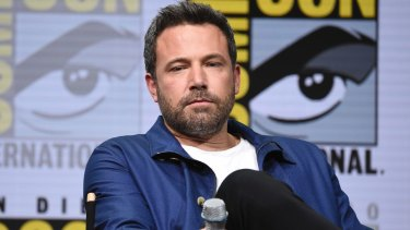 Ben Affleck attends the Warner Bros Justice League panel on day three of Comic-Con.
