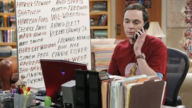 Crazy smart: Jim Parsons as Sheldon Cooper in <i>The Big Bang Theory</i>.