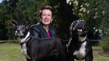 Sydney Lord Mayor Clover Moore, with dogs Buster and Bessie, said she welcomed efforts to encourage pet ownership.