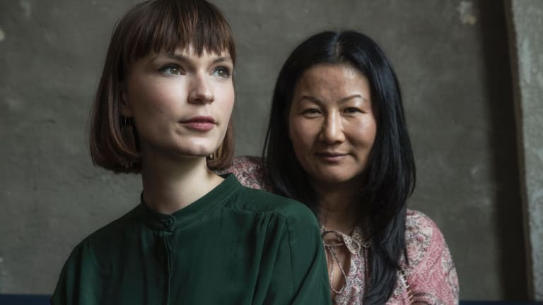 """""""My dad used to play I Am Woman all the time at home"""": Tilda Cobham-Hervey, who will play Helen Reddy, with director Unjoo Moon."""
