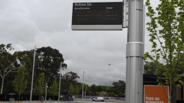 The new Dickson bus interchange opened on Friday.