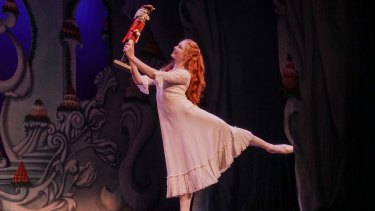 Mia Heathcote in Queensland Ballet's <i>The Nutcracker</i>.