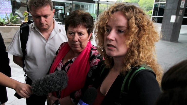 Mikala Liemann and Tania Lousdal Jensen, mother and sister of 22-year-old Danish student Rebekka Meyer, who was killed while cycling in Brisbane.
