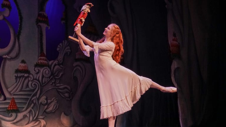 Mia Heathcote in Queensland Ballet's <i>The Nutcracker</i>.