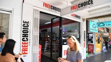 Two proprietors at Free Choice Tobacco in Bondi have been handed the biggest ever fine in NSW for tobacco-related offences.