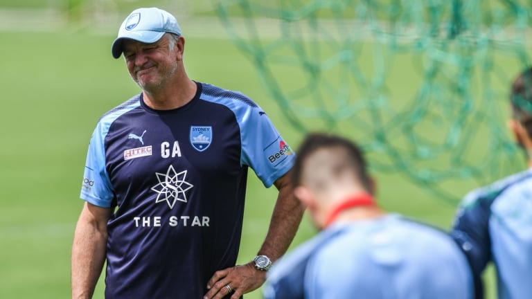 In the running: Sydney FC coach Graham Arnold has been heavily linked to the Socceroos job.