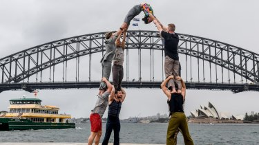 Adelaide troupe <i>Backbone</i> in Sydney.