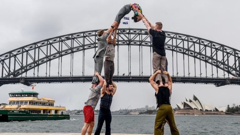 Adelaide troupe <i>Backbone</i> in Sydney.