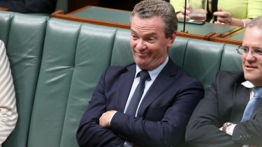 "You couldn't kill me with an axe"": Christopher Pyne during question time on Tuesday."