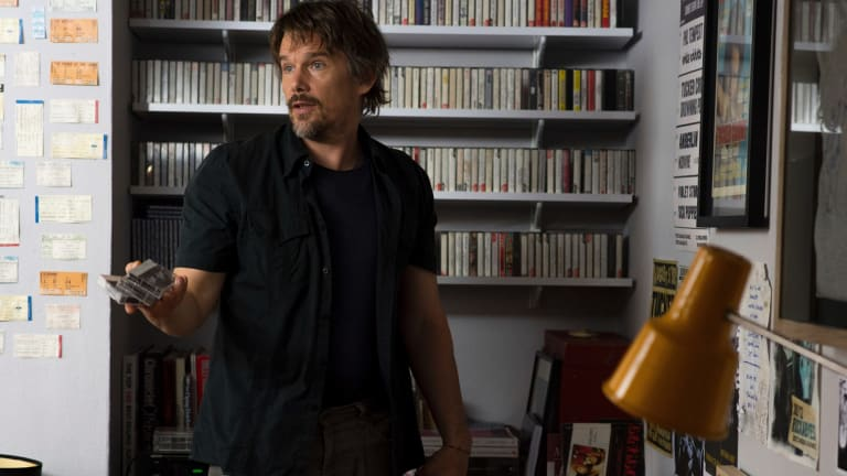 Ethan Hawke in a scene from Juliet, Naked.