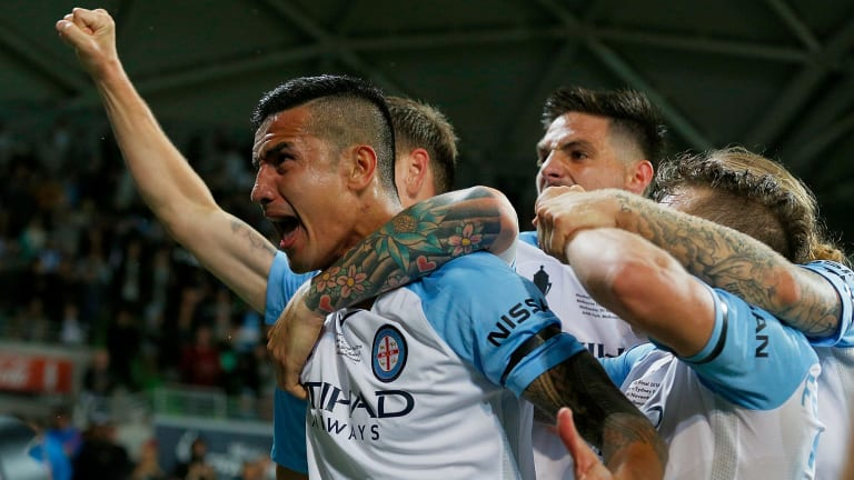 The standard bearer for the Australian game, Tim Cahill, delivered on the biggest occasion in City's history.