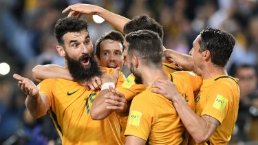 Hat-trick hero Mile Jedinak.