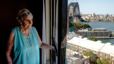 Myra Demetriou, 89, has been a tenant in the Sirius building since 2008.