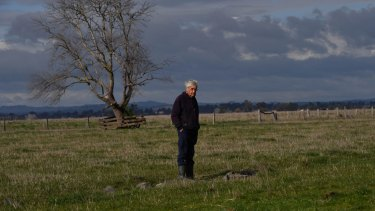 Robert on the edge of the grassed over airstrip.