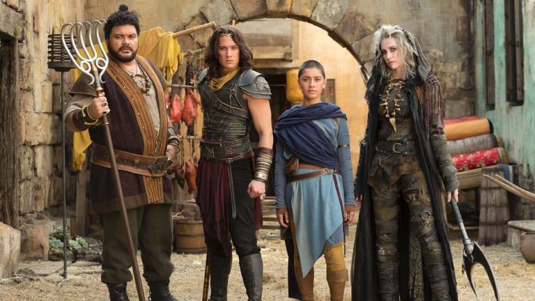 The new faces of <i>The Legend of Monkey</i>: Pigsy (Josh Thomson), Monkey (Chai Hansen),Tripitaka (Luciane Buchanan) and Sandy (Emilie Cocquerel).