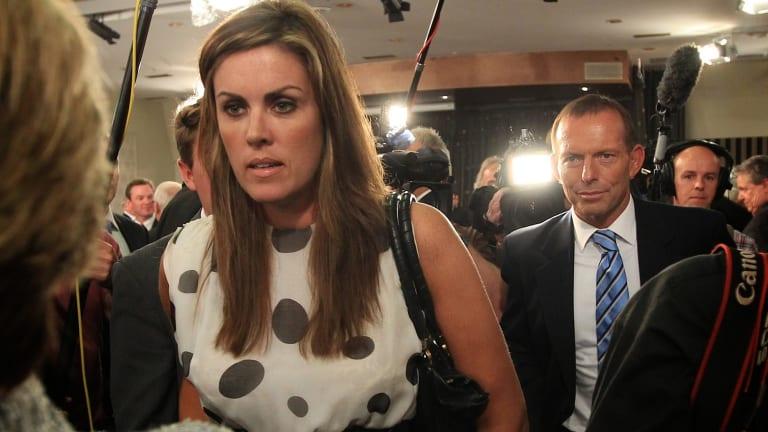 Peta Credlin with Tony Abbott in 2012.
