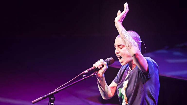 Sinead O'Connor performs at Melbourne's Hamer Hall in March this year.