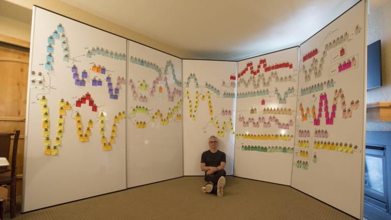 Solomon and the multi-storyline storyboard of <i>Mosaic</i>.
