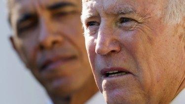 US Vice-President Joe Biden and President Barack Obama.
