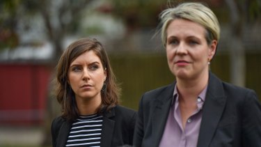 Tanya Plibersek joined Labor's candidate for Northcote, Clare Burns, on Wednesday.