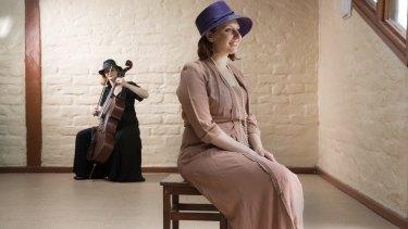 Petra Kalive, who plays Mary Alice Evatt, with cellist Adi Sappir.