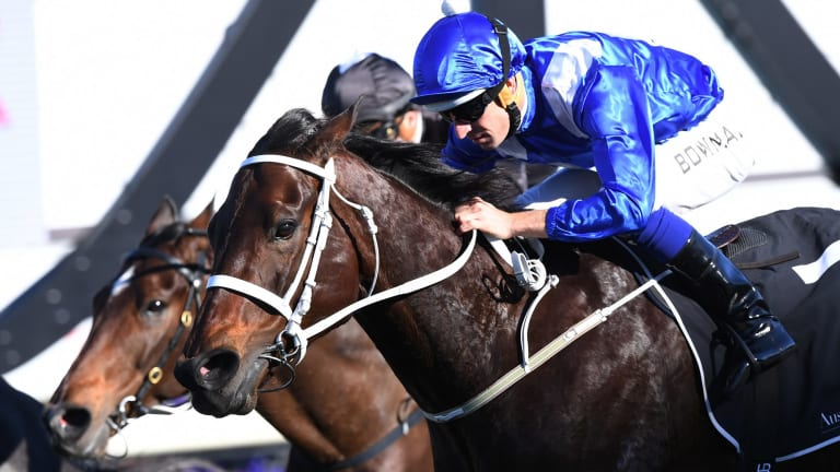 Her race: Winx takes out this year's Warwick Stakes.