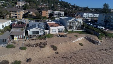 One year on, three of the 10 Collaroy homes on the frontline of beach erosion are still unoccupied.