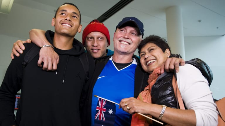 Nick Kyrgios and his family
