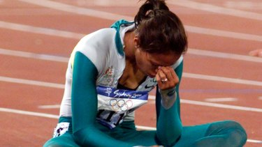 Cathy Freeman, who paid tribute to Harry Gordon's hugs.