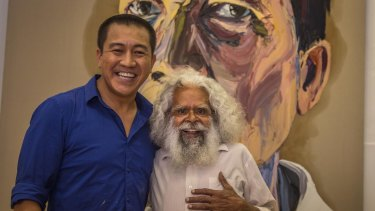 Anh Do and Jack Charles in Anh's Brush With Fame.
