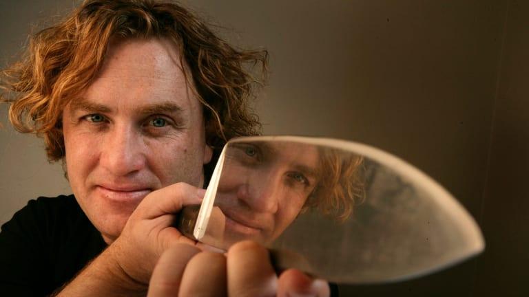 Adrian Richardson of La Luna Bistro with his favourite knife.