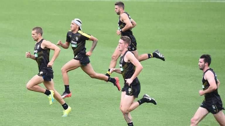 Richmond's first to fourth year players are back in training.