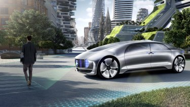 The Mercedes-Benz F015 driverless car is programmed to avoid collisions, but not at risk to the occupants.