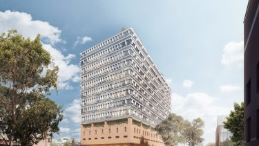 An artist's impression of the proposed building at 20 Brougham Street, Geelong.