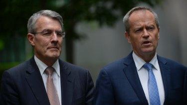 Bill Shorten MP and Mark Dreyfus.