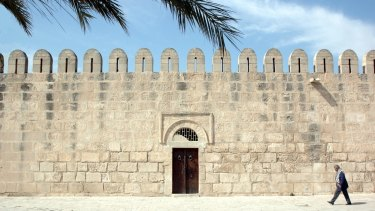 A wall of the fortified 9th century Great Mosque in Sousse.
