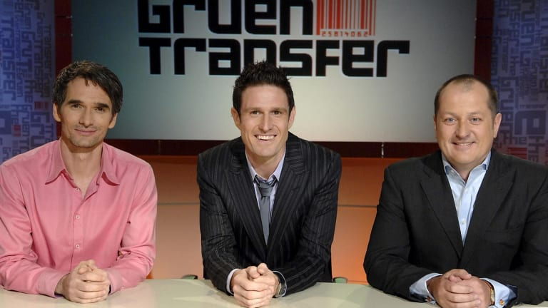 Todd Sampson, Wil Anderson and Russell Howcroft from <i>The Gruen Transfer</i> on ABC.