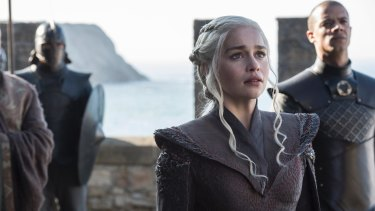 I'm home: Daenerys Targaryen (Emilia Clarke) returns to Dragonstone.