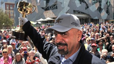 Cup runneth over: Marwan Koukash at the Melbourne Cup parade in 2013.