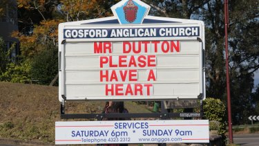 A church in Gosford, NSW, appeals to Immigration Minister Peter Dutton to help in the case of Iranian woman held in a Darwin detention centre and set to be deported.